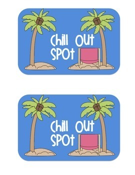 Chill Out Spot Signs