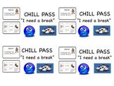 Chill Pass: Break Card w/ Coping Strategies