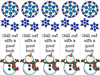 Chill out snowman bookmark 2 red/green