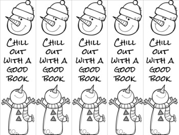 Chill out snowman bookmark 3 blue/purple