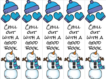 Chill out snowman bookmark 4 blue/purple