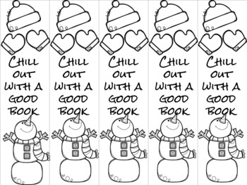 Chill out snowman bookmark 4 red/green