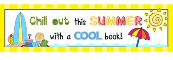 Chill out this Summer with a cool book poster