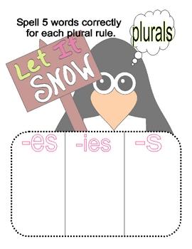 Chillin Penguins Plural Words Sort