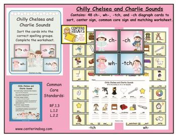 Chilly Chelsea and Charlie Sounds (RF.1.3, L.1.2, L.2.2)