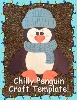 Chilly Little Penguin Craft Template for Winter!