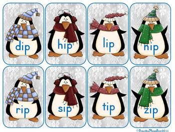 Chilly Penguins IP - IT - IN - IG Word Family Sort Game