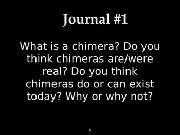 Chimera Power Point for Frankenstein intro