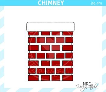 Santa chimney clipart commercial use