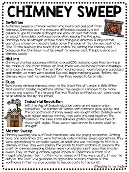 Chimney Sweep Informational Article; Poetry; Industrial Revolution; Child Labor