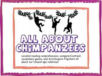 Chimpanzee BUNDLE! Flipchart! Comprehension! Jane Goodall! Common Core!