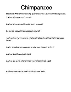 Chimpanzee Movie Guide