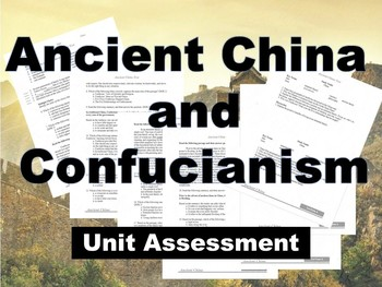 Ancient China Test