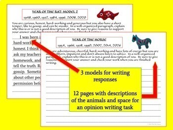 China Writing BUNDLE with Chinese New Year and Chinese Zodiac Activities