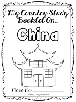 China Activities and Worksheets Research Project