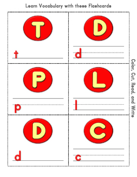 China Cut and Color MIni flashcards Activity