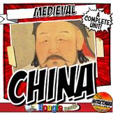 China Dynasties Unit Plan Bundle Sui, Tang, Song, Yuan (Mongols) & Ming