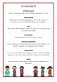 China Fact Cards