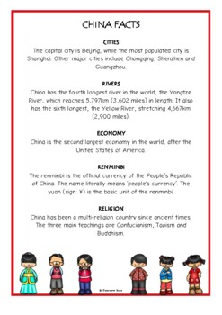 China Fact Cards