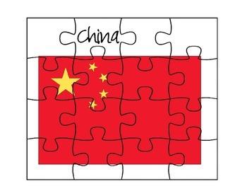 China Flag Puzzles