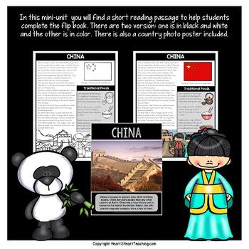 China Country Study: A Mini-Unit & China Flip Book
