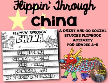 China Flip Book: A Social Studies Interactive Activity for Grades 3-5