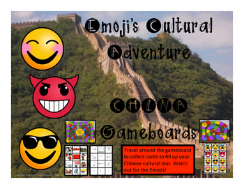 China Game - Emoji's Cultural Adventure Gameboard
