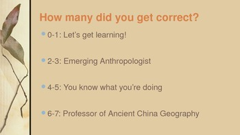 China Geography Game (PowerPoint)