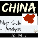 China Geography Map Activity (great for centers)