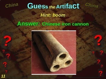 "China ""Guess the artifact"" game: engaging PPT with pictures, clues & answers"