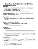 China Guided Notes