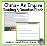 China - History of an Empire Reading & Question Homework A