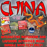 China Interactive Notebook Activities w/ Ruby's Wish and Angel Island Test Prep