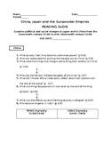 China Japan Unit Reading guide