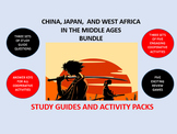 China, Japan, and West Africa Middle Ages Bundle: Study Guide/Activity Packs