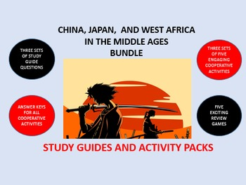 China, Japan, and West Africa Middle Ages Bundle: Study Gu