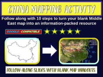 China Map Activity - fun, easy, engaging follow-along 15-s