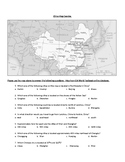China Map Exercise --- Answer Key Included