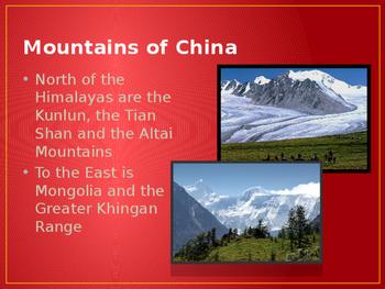 China, Mongolia and Taiwan