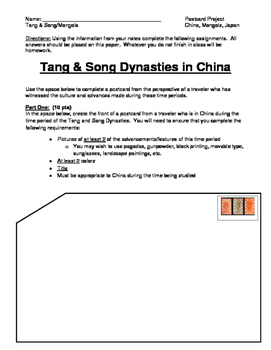 China & Mongols Postcard Project