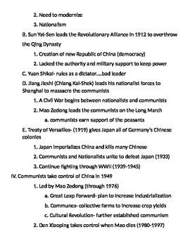 Global 2: China Notes