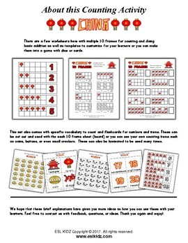 China Numbers Counting Activities