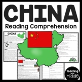 China Overview Reading Comprehension Worksheet