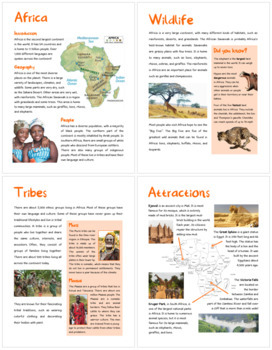 Africa (Fun stuff for elementary grades)