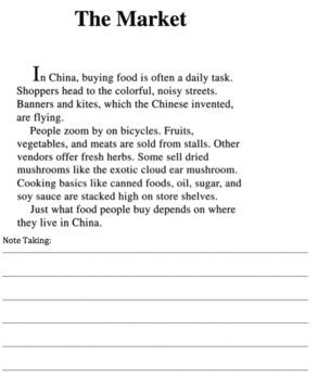 China Reading Packet 3rd Grade Close Reading