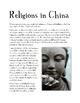 China: Religions of China