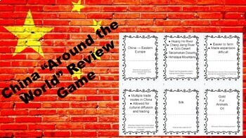 """China Review Game """"Around the World"""" Scavenger Hunt"""