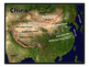 China Satellite Map Physical Geography PowerPoint Introduction