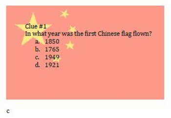 China Scavenger Hunt Task Card Activity! Great Game for Review or End of Year!