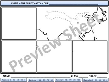 China - The Sui Dynasty - Homework